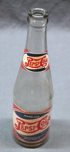 1930s-40s Rock Springs PEPSI-COLA Bottle w/Paper label