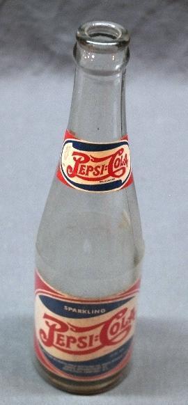 1930s-40s Rock Springs PEPSI-COLA Bottle w/Paper label