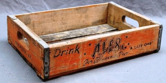 Scarce ALE 8 Wood Soda Crate/Tray