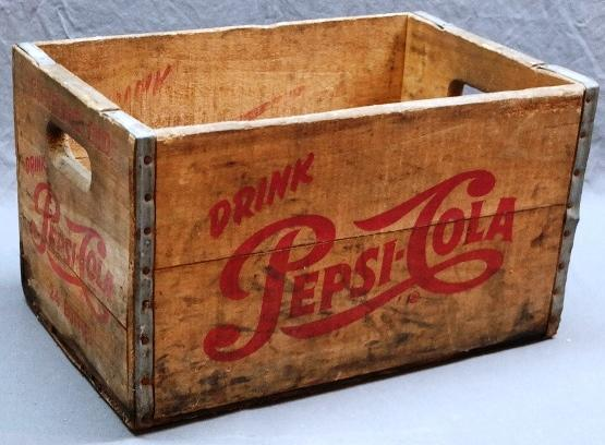 Drink PEPSI-COLA Wooden Crate