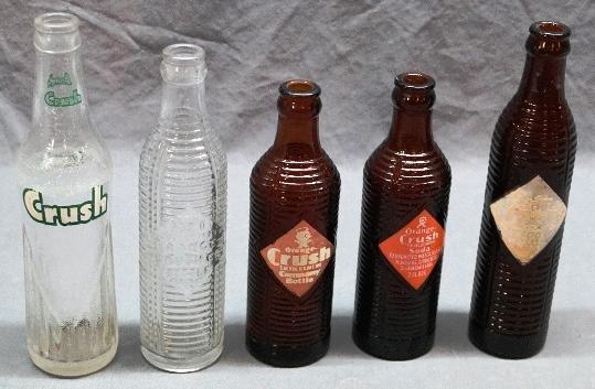 Lot of 5 ORANGE CRUSH Bottles
