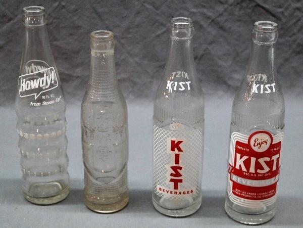 Lot of 4 Early Soda Pop Bottles-KIST & HOWDY