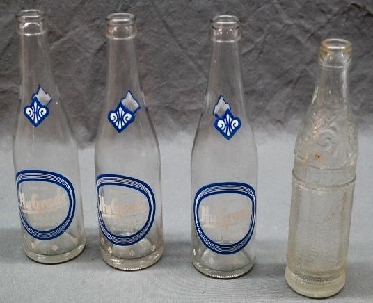 Lot of 4 HYGRADE Soda Pop Bottles