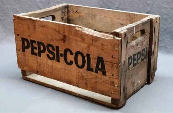 1950s-60s Wood PEPSI Crate-Canadian