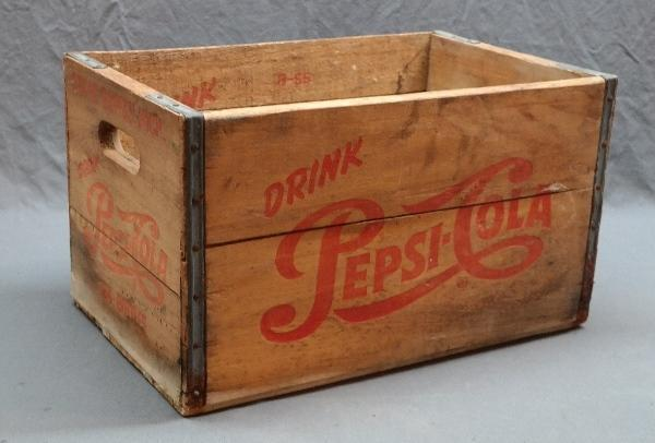 1950s Drink Pepsi-Cola Wood Crate