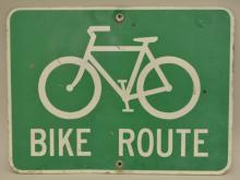 Bike Route Street Sign-Reflective