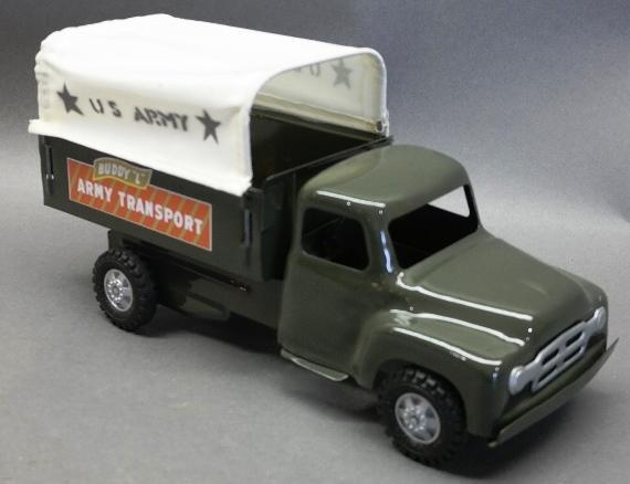 Buddy L Army Transport Truck-Restored