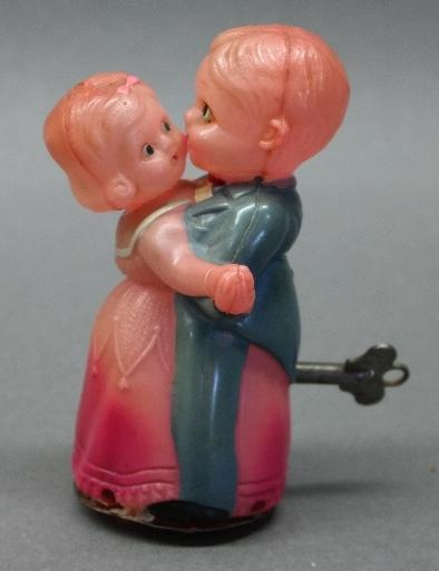 Celluloid Wind Up Dancing Couple- Working