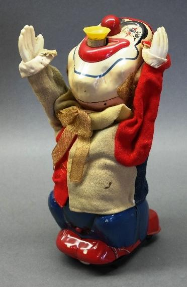 Battery Operated Bubble Blowing Clown by TN Japan Tin Litho