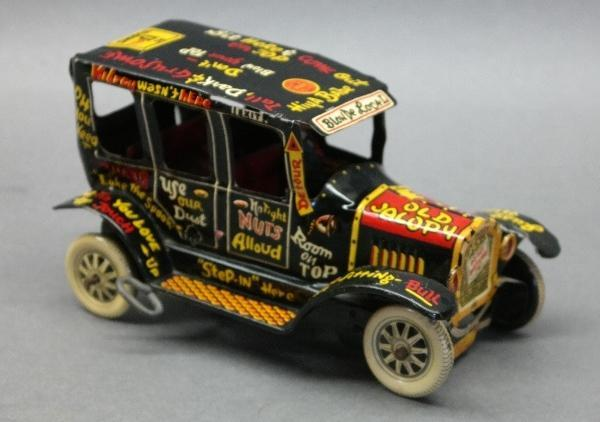 Marx Old Jalopy 1950s Tin Litho Wind Up Car with Driver