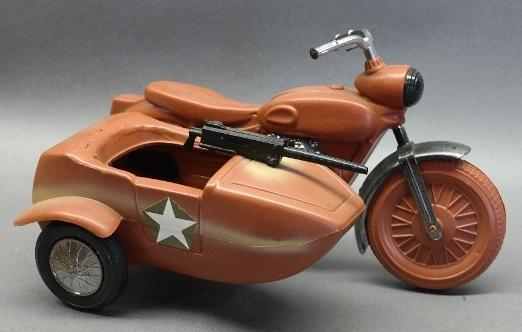 1960s GI Joe Motorcycle with Side Car and Machine Gun