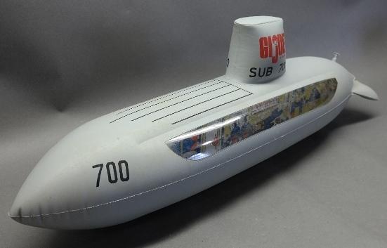 Lot of 2 1968 GI Joe Sub 700 Inflatable Submarine