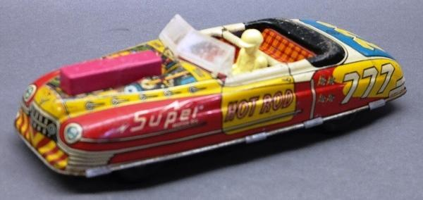 Marx Battery Operated and Friction Hot Rod 777 Super