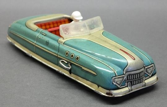 Marx Wind Up 1949 Roadster in Blue