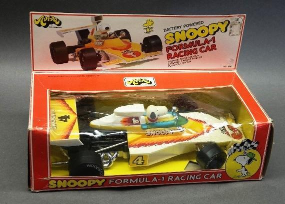 1965 Snoopy Formula 1 Racing Car in Original Box by Aviva Toys