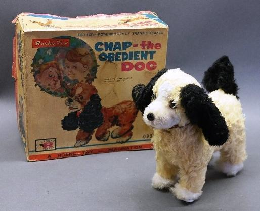 Chap the Obedient Dog Battery Operated Toy in Original Box
