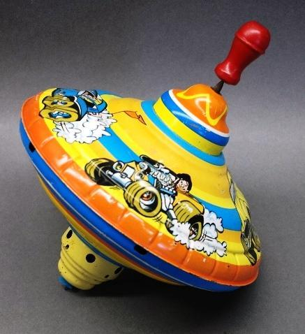 Ohio Art Spinning Top with Hot Rod Graphics