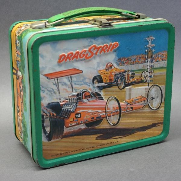 Drag Strip Metal Lunchbox