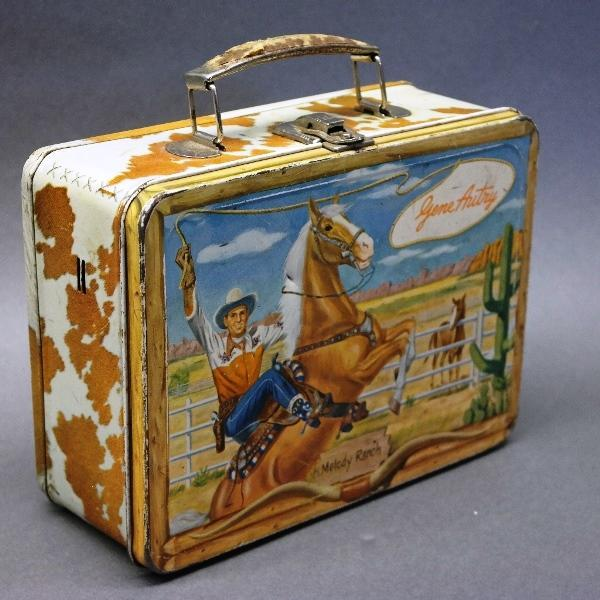 Gene Autry Metal Lunchbox with Rawhide Band and Handle