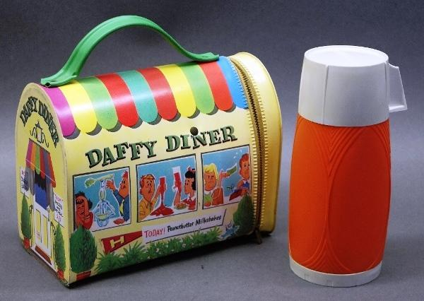 Rare Daffy Diner Dome Vinyl Lunchbox with Thermos