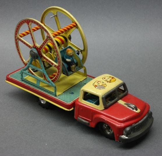 TN Japan Ferris Wheel Tin Litho Friction Truck