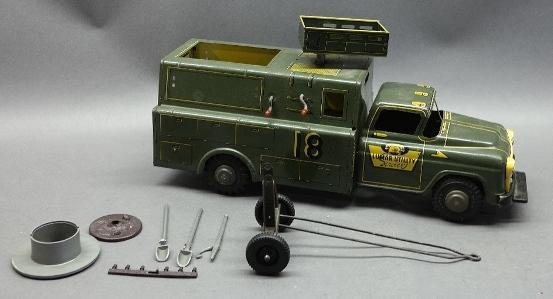 Louis Marx Utility Service Truck w/Accessories