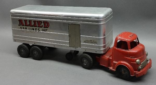Metal Cab WYANDOTTE Allied Van Lines Semi Truck