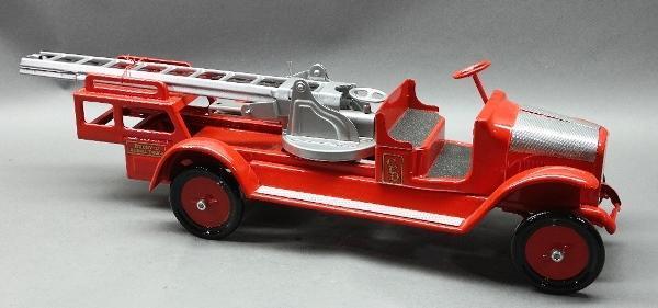 BUDDY L Aerial Ladder Fire Truck-Restored