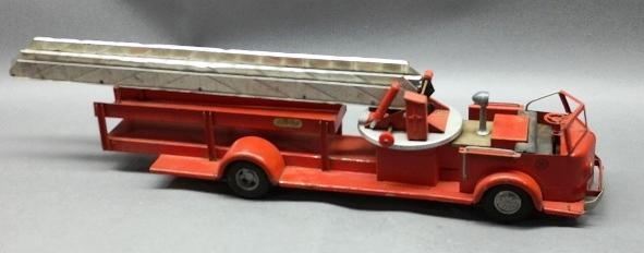 Doepke MODEL TOYS Closed Ladder Aerial Truck w/Hose