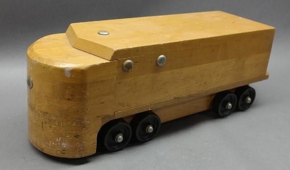 WW2 Era Wartime Ride on Wood Toy- Train