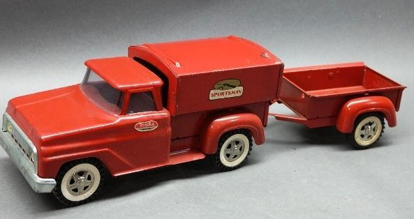 Tonka Sportsman Pick up Truck with Trailer