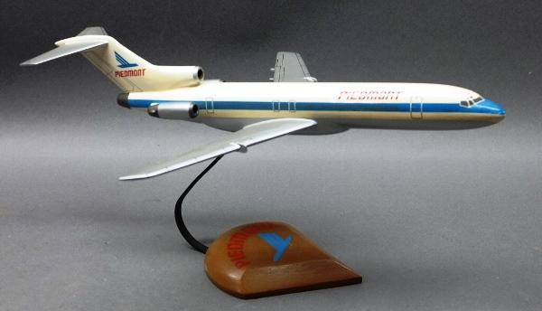 Wooden Jet Airplane 747 Model- Piedmont- on Wood base
