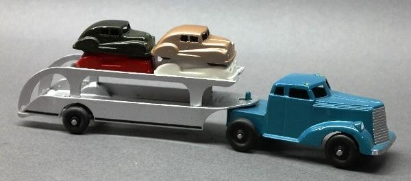Harco Automobile Carrier Semi Truck and Trailer with Cars- Restored