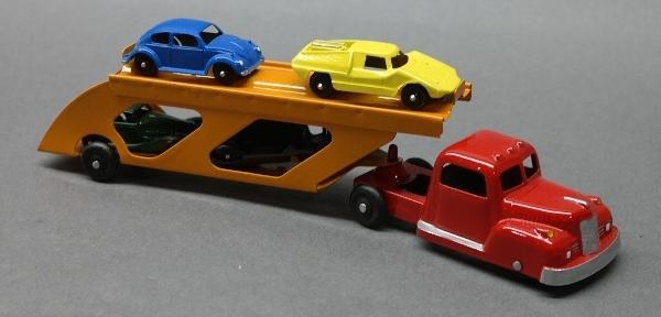 Tootsie Toy Car Carrier Truck with Cars- Restored