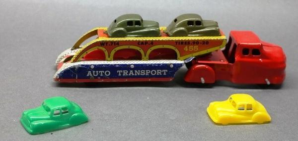 Wyandotte Car Hauler with Plastic Cars- Restored Cab