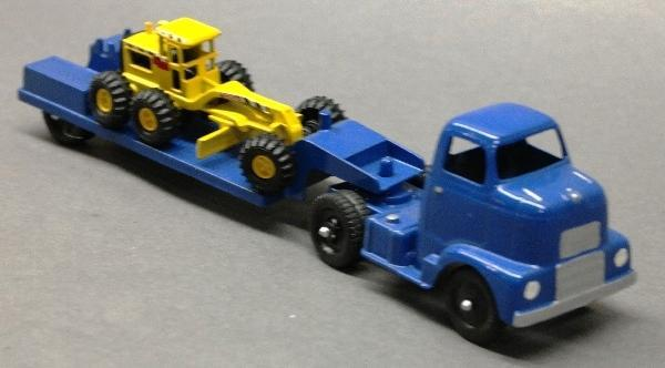 Custom Tootsie Toy Low Boy Hauler with Grader