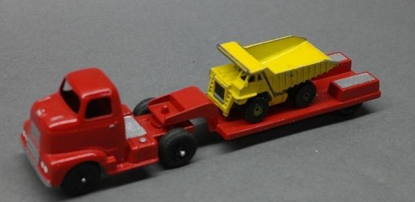 Custom Tootsie Toy Low Boy Hauler with Dump Truck