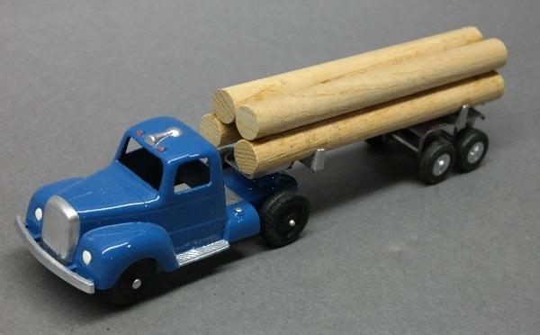 Custom Tootsie Toy Log Hauler Semi Truck