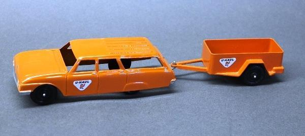 Tootsie Toy U-Haul Station Wagon with Trailer- Restored