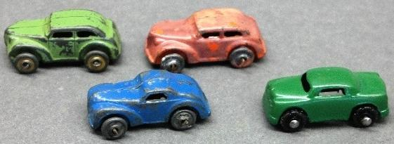 Lot of 4 Various Barclay Cars