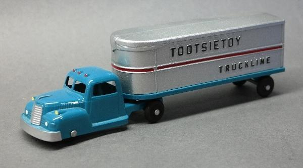 Tootsie Toy Truck Line Delivery Semi- Restored