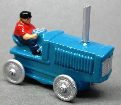 Slush Toy Tractor with Driver and Smoke Stack- Restored