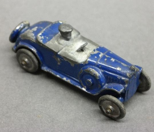 Early Slush Toy Roadster-Blue w/Driver