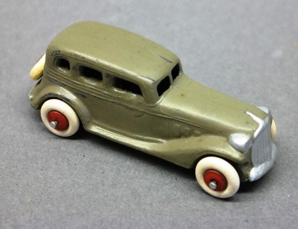 Early Slush Toy Sedan-Grey-Restored w/new tires.