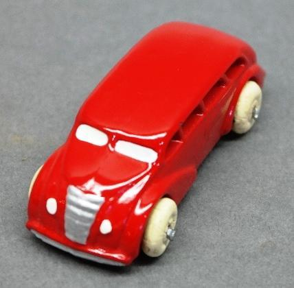 Red Slush Toy Bus-Restored w/new tires