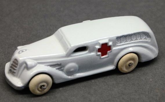 Early Slush Toy Ambulance-Restored