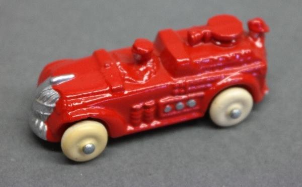 Early Slush Toy Pumper Fire Truck-Restored