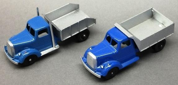 Lot of 2 Restored Tootsie Toy Dump Trucks-Blue