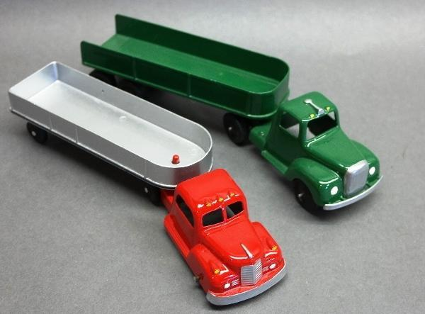 Lof of 2 Early Tootsie Toy Semi Trucks-Restored