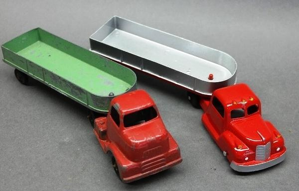 Lot of 2 Early Tootsie Toy Semi Trucks-1 Restored